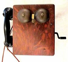 Antique Wooden Western Electric Crank Telephone