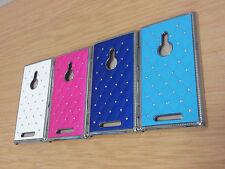 New! Crystal Diamond Bling Glitter Chrome Trim Hard Case cover for Nokia Lumia