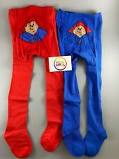 baby girls official PADDINGTON BEAR blue red sock tights NEWBORN - 18 months