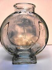 Bottle Clock Face Glass Bank Antique Lge. Condiment Rare Variant Hands@4:00 MINT
