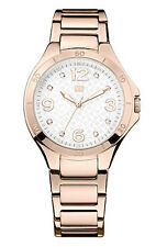 New Tommy Hilfiger Women Steel Rose Gold Dress Watch 40mm 1781316 $135