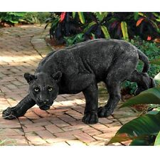 SCULPTURE BLACK SHADOWED Outdoor Statue Predator Panther Elegant Decor Royal New