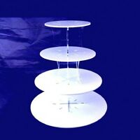 Four Tier Classic Round Cake Stand - Available in a Range of Colours