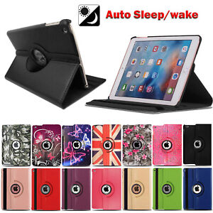 For Apple iPad 5th/6th Generation iPad Air1/2 Leather Rotating Stand Case Cover