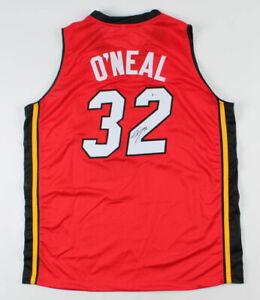 Shaquille O'Neal Signed Miami Heat Style Jersey (Beckett COA) 4xNBA Champion