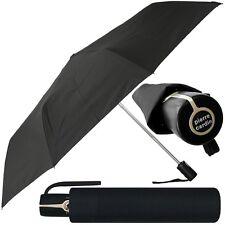 pierre cardin Unisex Regenschirm kurz schwarz Taschenschirm auf zu automatic