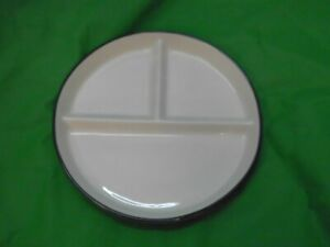 6 Gastronomie Teller, Fondue Teller, Porzellan, 21 cm Durchmesser NEUWARE