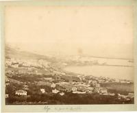 Algérie, Vue d'Alger prise de Mustapha Vintage albumen print.  Tirage alb