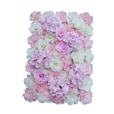 Künstliche Rosen Hortensie Blumen Wand Wand Hochzeits Dekor Rosa Weiß