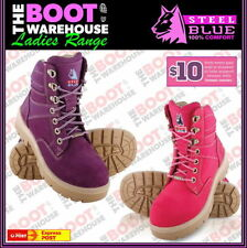Leather Work & Safety Lace Up Boots for Women