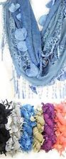 G1004LP. Lace Infinity Scarf G series Lot of 24 (4 each of 6 colors)