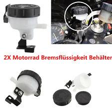 2X Motorrad Bremsflüssigkeitsbehälter Master Cylinder Brake Fluid Cup Reservoir
