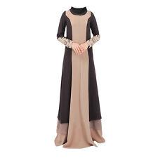 Dubia Style Muslim Kaftan Abaya Jilbab Islamic Women Long Sleeve Maxi Dress M-XL