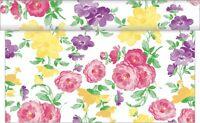 Tischläufer Johanna aus Linclass® Airlaid 40 cm x 4,80 m - Blumen Floral