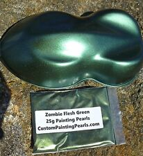 Kandy Zombie Flesh Green Pearl Pigment Plasti Dip Glossifier Gallon Black Kit
