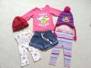 7pcs Girl's Bundle-> long sleeve Swim Suit Added->Size 00-> AS new- EUC