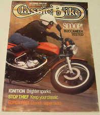 Classic Bike 9/89 Triumph Buccaneer, Benelli Tornado, BSA B33 Indian Super Scout