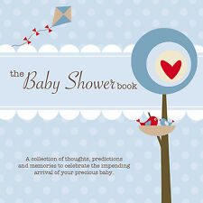 THE BABY SHOWER BOOK~Keepsake~Guests predict baby stats, give advice/wishes~Blue