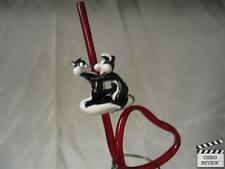 Pepe Le Pew sipper straw, Looney Tunes; Applause NEW