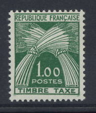 FRANCE POSTAGE DUE 1960 1f GREEN MINT NO HINGE
