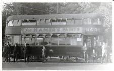 Tram RP postcard size photo card Ordnance Corner Southampton 1945
