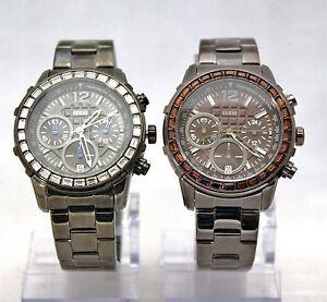 NEW GUESS U0016L3 Black or U0016L4 Brown Tachymeter Chronograph Women Watches