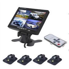 7 in (environ 17.78 cm) voiture moniteur au Parking Moniteur 4 Split écran + 4PCS caméra de recul