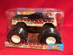Mattel Hot Wheels Monster Trucks FLAME POWER WHEELS BIGFOOT DIE-CAST 1:24 *NEW*