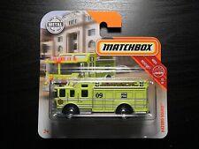 2018 MATCHBOX MBX Resuce 18/30 Yellow Hazardous Materials Fire Truck 73/125
