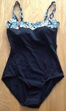 M & S - Black Mix Swimming Costume - Size 14 - BNWOT