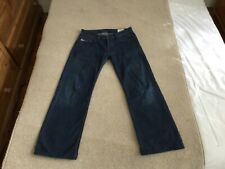 DIESEL INDUSTRY LEVAN BUTTON FLY BLUE RELAXED FIT JEANS SIZE 31 LEG 30
