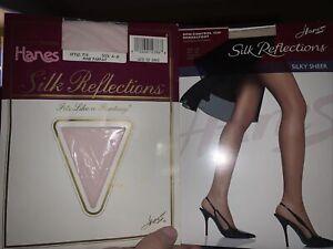 Silk Reflections Silky Sheer Pantyhose~Sz AB 1-pr Travel Buff 1-pr Pink Parfait