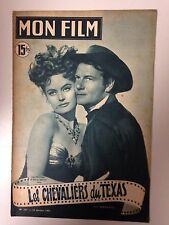 MON FILM N°231 1951 LES CHEVALIERS DU TEXAS / JOEL Mc CREA - ALEXIS SMITH