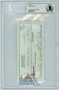 Julius Erving Autographed Check - BGS