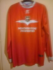 BRIGHTON AND HOVE ALBION 2002 RED L/S AWAY SHIRT SIZE XXL 2XL ERREA # 9 VGC BHA