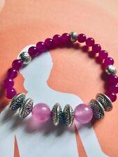 "6-14 mm Natural Rose Jade Pierres Précieuses Perles Rondes Pendentifs Collier 18/"" AAA NOUVEAU"