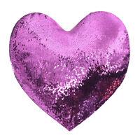 10Pcs Purple Sublimation Blank Reversible Mermaid Pillowcase Sequin Heart Shape