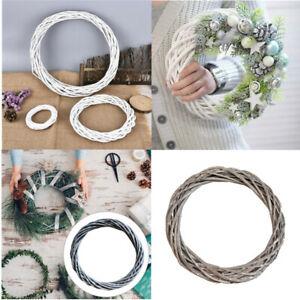 Christmas Artificial Vine Ring Wreath Rattan Wicker Garland Xmas Party Decor DIY