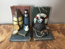Vintage Nautical Resin Bookends Set of 2