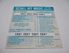 WCFL Chicago June 15,1972 Radio Top 40  Radio ALL HIT MUSIC Elvis Ad on Back