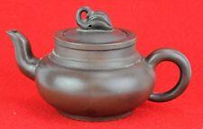 """Vintage Chinese Terra Cotta Yixing Teapot.  3"""" tall, 6 ½"""" wide.(BI#MK/180714)"""