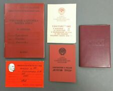 LOT OF 5 VINTAGE DOCUMENTS SOVIET / RUSSIAN PILOT COLD WAR WARSAW PACT AIRCRAFT
