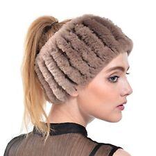 Rabbit Fur Headband Winter Knit Neck Warmer Real Headbands Women Scarf Muffler