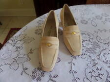 New St John Beige Suede Leather Heel Loafer Shoes Size 7 1/2 B (M)