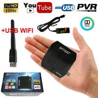 SKYSAT V9 Plus DVB-S2 Satellite Receiver Youtube Full HD MPEG-4 Decoder+USB WIFI