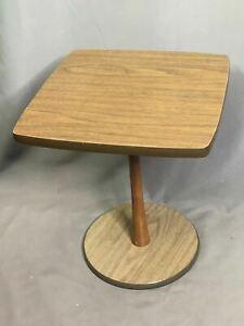 """Mid Century Modern Wood Veneer Tulip Table Small Side Table Display 17"""" Tall"""