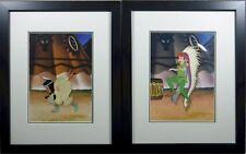2 cels Peter Pan Tiger Lily Art Corner Disney hand paint Original Production cel
