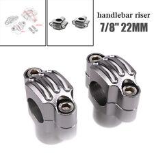 "7/8"" 22mm Aluminum Motorcycle HandleBar Handle Bar Mount Clamps Riser Universal"