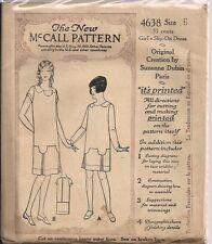 Vintage Girls Slip Sewing Pattern M4638 Size 6
