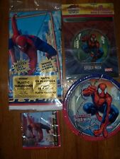 4pc Lot Unique Ultimate Spiderman Birthday Party Goods Multi-color NOS